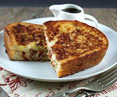 Authentic Suburban Gourmet: Gruyere & Bacon Stuffed French Toast
