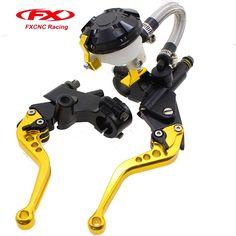 53.19$  Buy now - FX CNC Hydraulic Brake Cable Clutch  Gold Set For YAMAHA Honda KTM KAWASAKI BMW 125-400CC Moto Parts Levers  #aliexpressideas