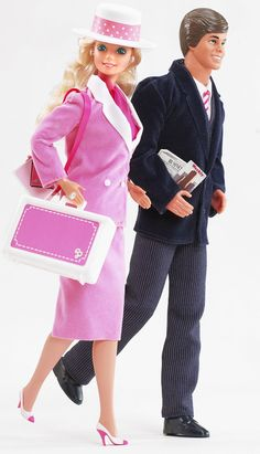 work in style - Barbie and Ken dressed for work (one of my favorite Barbie doll from the 80s)