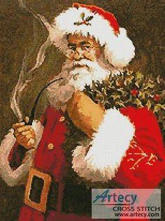 Santa - Christmas cross stitch pattern designed by Tereena Clarke. Category: Santa.