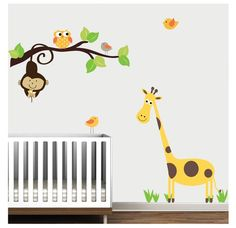 Branch JungleNursery Giraffe Decal Sticker Vinyl by Modernwalls, $65.00