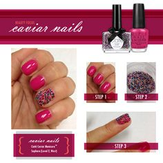 3D Nail Designs with red pattern | Nail Art Ideas