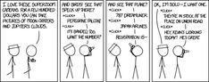 XKCD 1719 - *click* Let him know he's got a stain on his shirt, though.