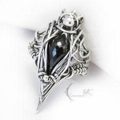 ZUQTUL - silver and black spinel by LUNARIEEN.deviantart.com on @deviantART