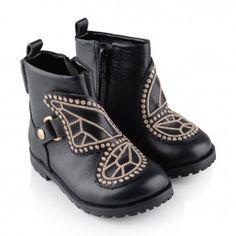Sophia Webster Girls Black Leather Karina Boots