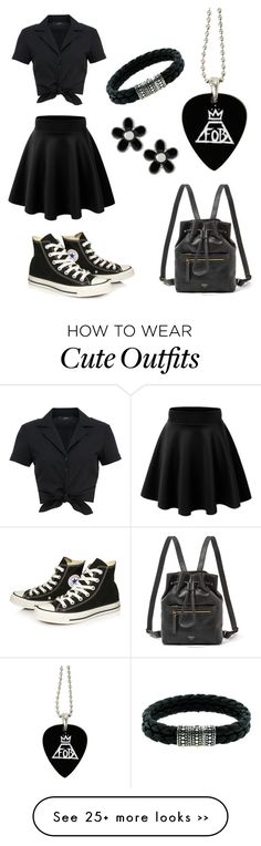 """Cute black skater-girl outfit"" by angela-scully-webber on Polyvore"