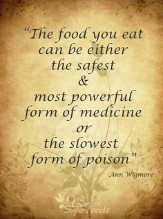 Food. Medicine or poison?