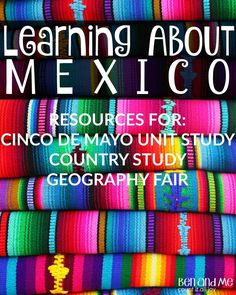 Mexico is a great country to study if you live in the U. S. because it's a part of our own history as well. And, for many homeschool families, it's a country not out of the realm of possibility to visit. These resources would also be great for a geography fair project or simple country study.