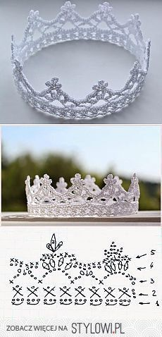 crochet crown - every princess needs at least one - www., crochet crown - every princess needs at least one - www. Crochet Diagram, Crochet Chart, Love Crochet, Crochet For Kids, Diy Crochet, Crochet Flowers, Crochet Toys, Crochet Stitches, Crochet Slippers