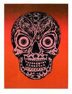 Skull Lithograph Print by Bill Fick http://skullappreciationsociety.com/skull-lithograph-bill-fick/ via @Skull_Society