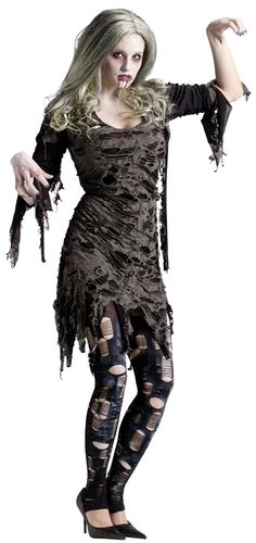 living dead zombie womens costume