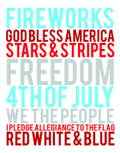 Free Holiday Subway Art | Free 4th of July Printables - 2 sizes available! | moritzfineblogdesigns.com