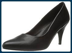 PUMP-420, Flacher Pumps schwarz, Größe:38 (US 8) - Stiefel für frauen (*Partner-Link)