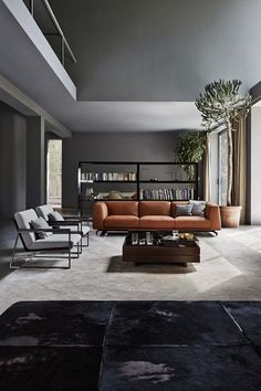 mid-century modern living room sofa and chairs Living Room Modern, Living Room Sofa, Interior Design Living Room, Living Room Designs, Living Room Furniture, Masculine Living Rooms, Interior Livingroom, Style Deco, Lounge Sofa