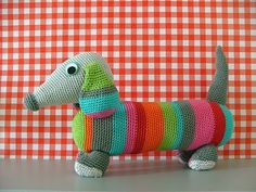 Cutest little crochet dog, this one's for you @Sarah Vanderson-McClurken