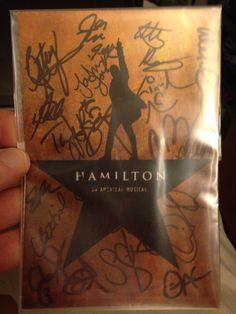 Hamilton Autographed Postcard