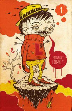Ilustraciones muy raras hechas por Kenny Poppins