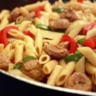 Bow Tie Pasta with Sausage and Sweet Peppers Recipe.. Made this tonight, it was  very good with alterations: Hot sausage instead of sweet, seasoned with red pepper flakes, 1 c. broth