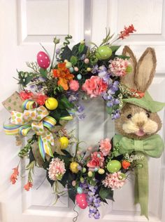 A personal favorite from my Etsy shop https://www.etsy.com/listing/266630379/easter-wreath-bunny-wreath-spring-wreath
