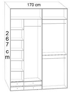 wnętrze szafy do zabudowy - Szukaj w Google Lockers, Locker Storage, Dresser, Floor Plans, Cabinet, Furniture, Google, Home Decor, Clothes Stand