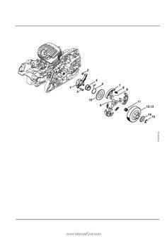 Stihl MS 291   Parts List Engine House, Tool Roll, Ignition System, Spark Plug, Ms