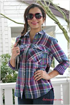Wantable Style Edit Review   Wantable Subscription   Fall Style   Fall Fashion   Plaid Shirt   Casual Chic