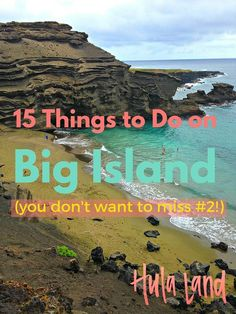 15 Things to Do on the Big Island The very best things to do the Big Island of Hawaii including Volcano National Park, the green sand beach, and touring a coffee plantation Hawaii Honeymoon, Hawaii Vacation, Hawaii Travel, Vacation Trips, Travel Usa, Hawaii Hotels, Hawaii Trips, Aloha Travel, Honeymoon Vacations