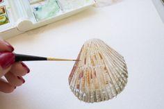 Using a liner brush for details