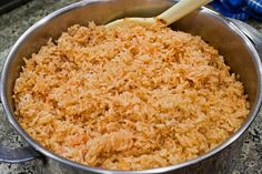 this is SO GOOD. delicious, easy spanish rice. i've been making this with baked green salsa chicken