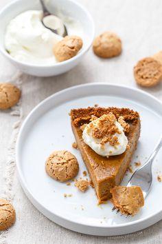 Deep-Dish Pumpkin Pie with Amaretti Cookie Crust
