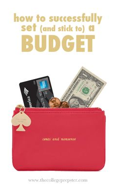 How to set a budget... Good info... But I really love this little Kate Spade coin purse... Ironically that is not in my budget