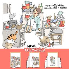 Messy House TF (Sku#4452)             Art Impressions tri-fold stamps                      $22.00