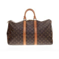 Pre-owned Louis Vuitton Travel ($675) ❤ liked on Polyvore featuring bags, luggage, luggage & bags and luggage accessories