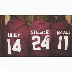 Isaac Lahey, Stiles Stilinski, and Scott McCall lacrosse hoodies