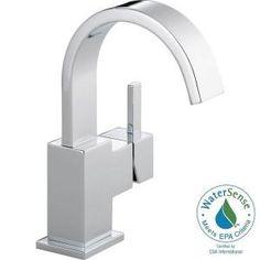 Delta Vero Single Hole Single-Handle Bathroom Faucet in Chrome-553LF - The Home Depot
