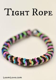 How to Make a Rainbow Loom Tight Rope Bracelet #rainbowloom