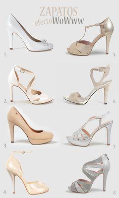 Consigue el efecto Wow con tus #zapatos de novia.