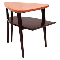 Sculptural Cork & Mahogany Table by Paul Frankl for Johnson Furniture ca1940's
