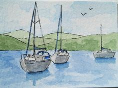 ACEO Boats on Windermere £3.00