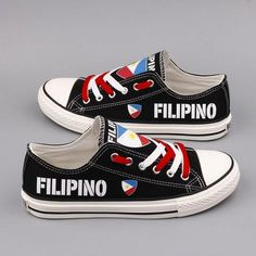 3863a5ddb6 Custom Printed Low Top Canvas Shoes - Filipino Pride Pride Shoes
