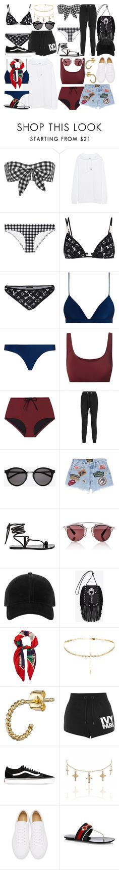 """""""Pool Party/Summer"""" by whoiselle ❤ liked on Polyvore featuring Ephemera, Acne Studios, Zimmermann, Solid & Striped, No Ka'Oi, Yves Saint Laurent, MadeWorn, Matisse, Christian Dior and rag & bone"""