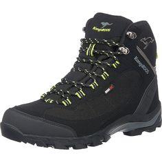 Ein tolles Modell für lange Wanderausflüge: Die K-Trekking 3008M Stiefelette der Marke KangaROOS. Eine robuste Beschaffenheit mit strapazierfähigem Obermaterial, gepolstertem Schaft und einer griffigen Laufsohle kennzeichnen das Design. Der feste Schnürverschluss sorgt für eine angenehme Passform. Ob im Trockenen oder Nassen ist irrelevant, denn dieser Schuh ist zusätzlich wasserfest.  Obermate...