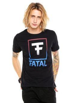 Camiseta Fatal Surf Estampada Preta