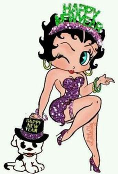 betty boop new years pictures - Bing Images The Real Betty Boop, Original Betty Boop, Black Betty Boop, Betty Boop Pictures, Pin Up, Glitter Graphics, Small Paintings, Girl Cartoon, Colored Diamonds