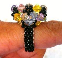 Swarovski Beads Ring Beading Tutorial   by Beading4pefectionist