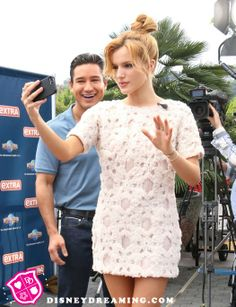 Bella Thorne's selfie style at EXTRA!