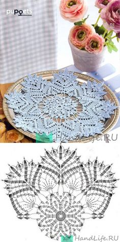 Captivating All About Crochet Ideas. Awe Inspiring All About Crochet Ideas. Crochet Chart, Thread Crochet, Crochet Motif, Crochet Home, Love Crochet, Knitting Patterns, Crochet Patterns, Crochet Dollies, Burlap Flowers