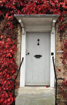 Autumn colours around a typical doorway in Midhurst, Hampshire door