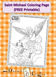 Familia Católica: Página para colorear de San Miguel Arcángel ¡gratis! - 29 de septiembre