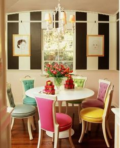 Love These Multi Colored Chairs Room By Ruthie Sommers
